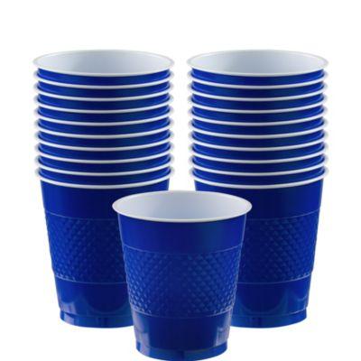 Royal Blue Plastic Cups 20ct