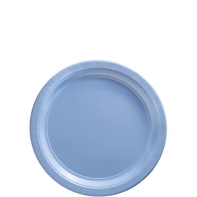 Pastel Blue Paper Dessert Plates 20ct