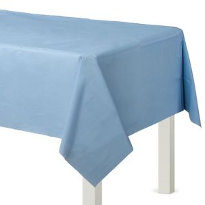 Pastel Blue Plastic Table Cover 54in x 108in