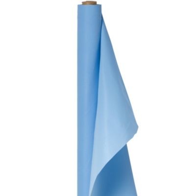 Pastel Blue Plastic Table Cover Roll