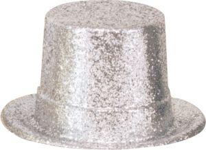 Glitter Silver Top Hat