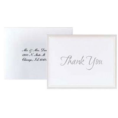 White Keeping With Tradition Printable Thank You Notes 50ct