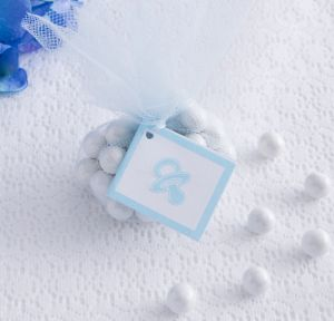Blue Pacifier Baby Shower Favor Tags 12ct