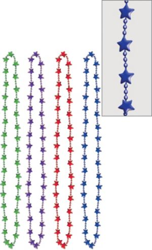 Colorful Star Bead Necklaces 4ct