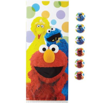 Elmo Party Bags with Ties 16ct