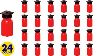 Red Graduation Cap Mini Bubbles 24ct