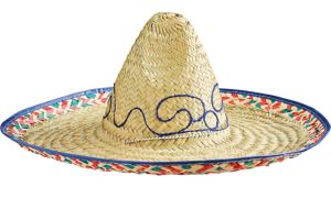 Embroidered Straw Sombrero