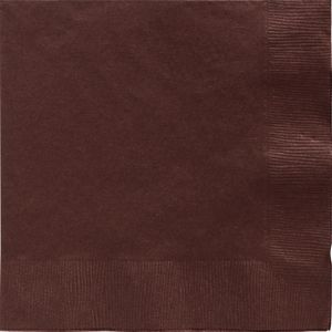 Chocolate Brown Dinner Napkins 20ct