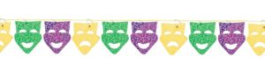 Mardi Gras Mask String Garland