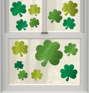 Glitter St. Patrick's Day Cling Decals 14ct