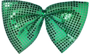 Giant Green Sequin Bow Tie