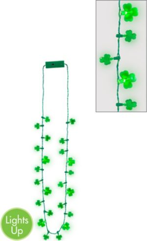Light-Up Shamrock Necklace