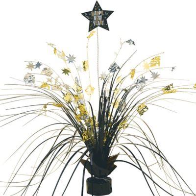 Black, Gold & Silver New Year's Spray Centerpiece