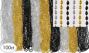New Years Beads Bucket 32in 100ct