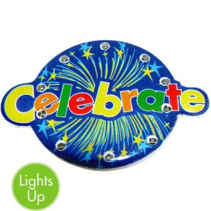 Light-Up Celebrate Pin