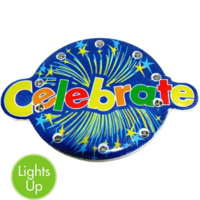 Light-Up Celebrate Pin