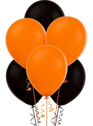 Orange and Black Balloons 15ct