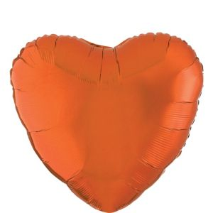 Orange Heart Balloon