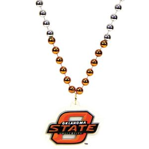 Oklahoma State Cowboys Bead Necklace 36in