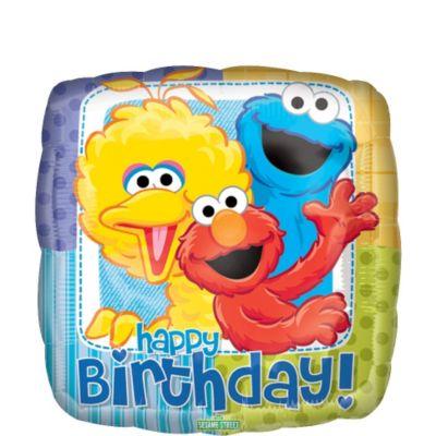 Happy Birthday Sesame Street Balloon
