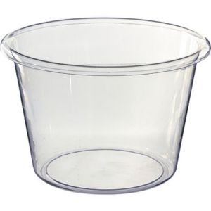 CLEAR Jumbo Plastic Ice Bucket