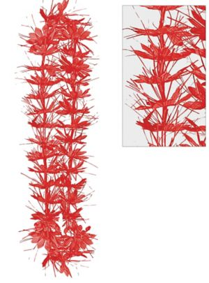 Red Tinsel Lei