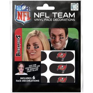 Tampa Bay Buccaneers Eye Black Stickers 6ct