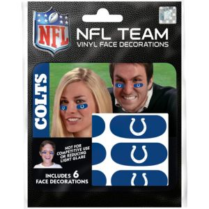 Indianapolis Colts Eye Black Stickers 6ct