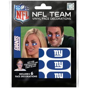 New York Giants Eye Black Stickers 6ct