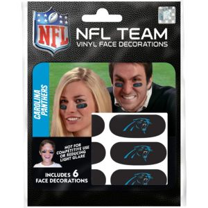 Carolina Panthers Eye Black Stickers 6ct