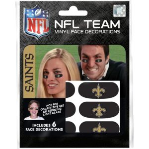 New Orleans Saints Eye Black Stickers 6ct