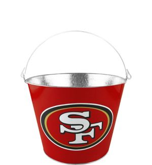 San Francisco 49ers Galvanized Bucket