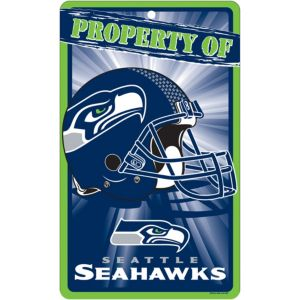 Property of Seattle Seahawks Sign