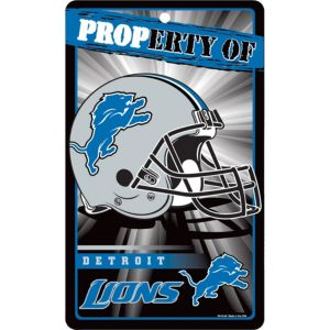 Property of Detroit Lions Sign