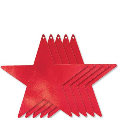Large Red Star Cutouts 5ct