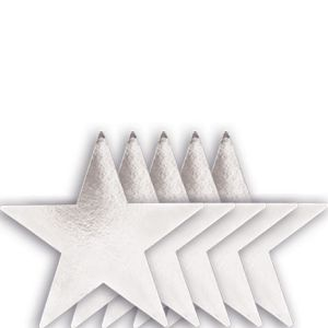 Medium Silver Star Cutouts 5ct