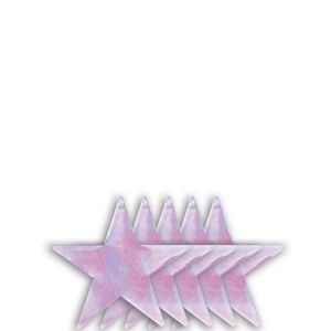 Small Iridescent Star Cutouts 5ct