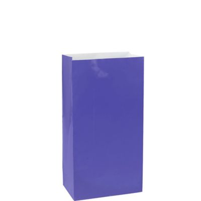 Purple Paper Bags 12ct