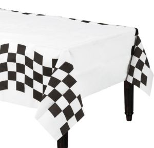 Black and White Checkered Paper Table Cover