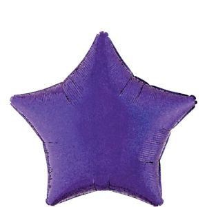 Purple Star Balloon - Prismatic