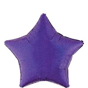 Purple Star Balloon - Prismatic