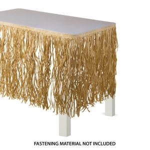 Natural Raffia Table Skirt 28in X 9ft Party City
