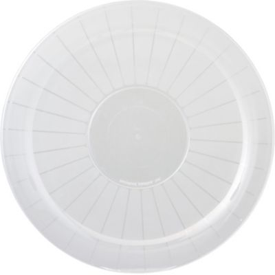 CLEAR Plastic Round Platter 18in