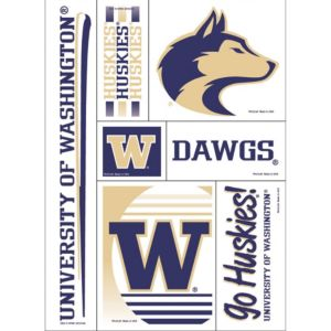 Washington Huskies Decals 5ct