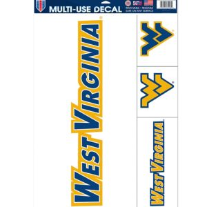 West Virginia Mountaineers Decals 4ct
