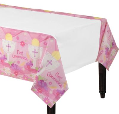 Girl's First Communion Paper Table Cover