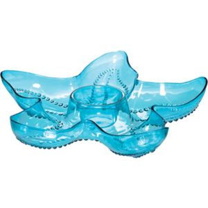 Blue Starfish Plastic Chip & Dip Tray
