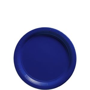 Royal Blue Paper Dessert Plates 50ct