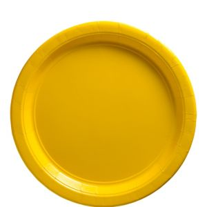 Sunshine Yellow Paper Lunch Plates 50ct