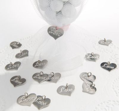 Love Wedding Favor Charms 24ct